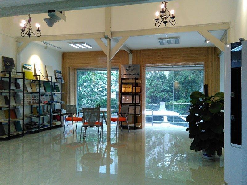 Display hall and reception room