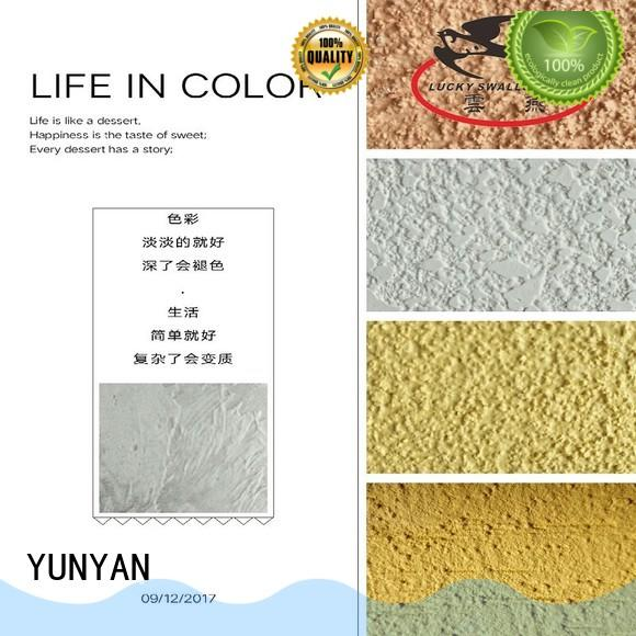 YUNYAN durable interior stucco paint colors stone offices