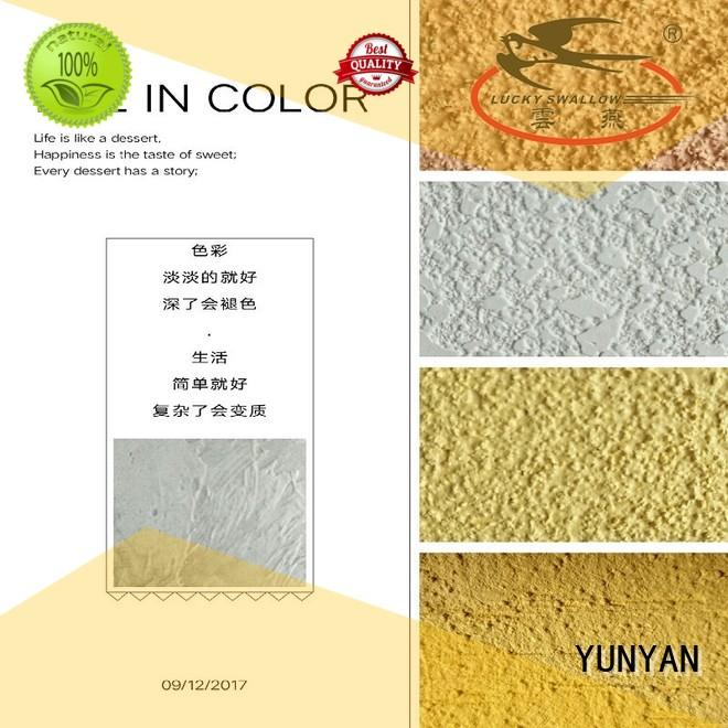 Hot paint interior stucco paint cement natural YUNYAN Brand