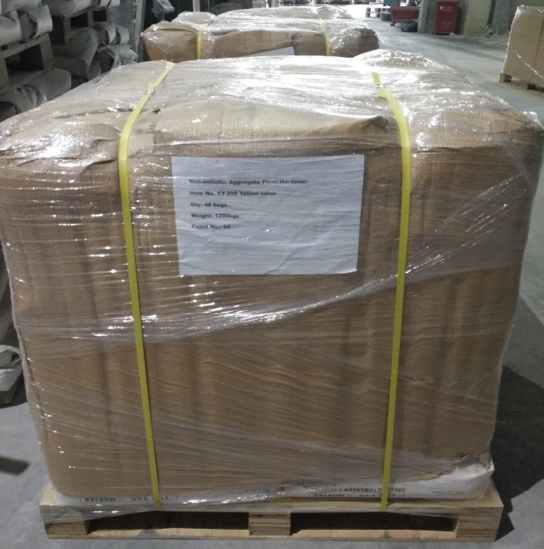 YUNYAN-We delivered Non-metallic floor hardener to Mauritius customer for food factory project   Scr-5