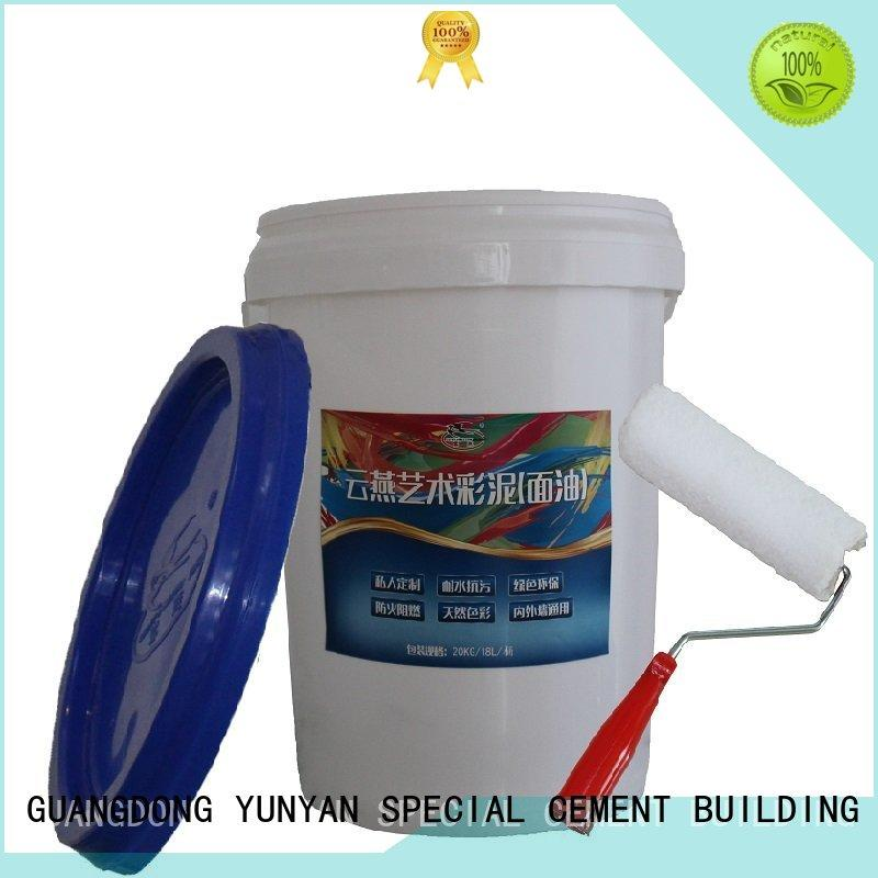 YUNYAN Brand cement natural painting interior stucco walls concrete supplier