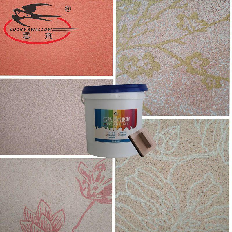 Elastic Acrylic Texture Paint Liquid Form Ready To Use